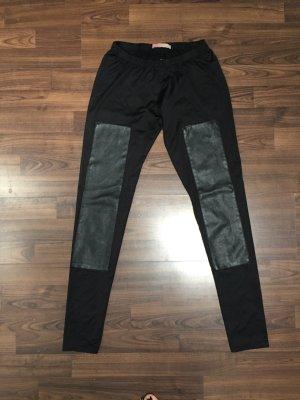 Black leather leggins