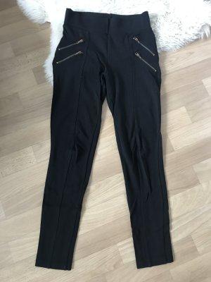 black leggings ZARA Reißverschluss zipper