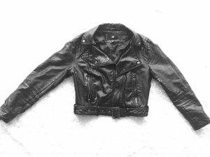 Black letherjacket By h&m