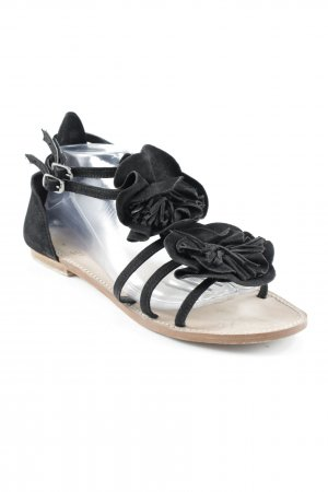 Black Lily Strapped High-Heeled Sandals black simple style
