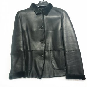 Marella Veste en cuir noir