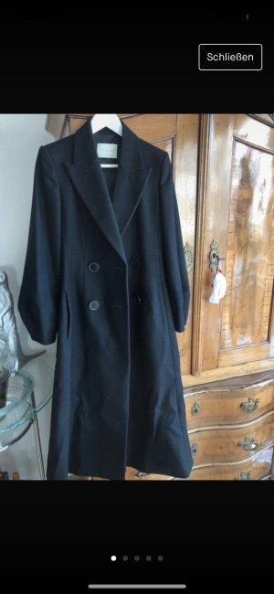 Massimo Dutti Floor-Lenght Coat black