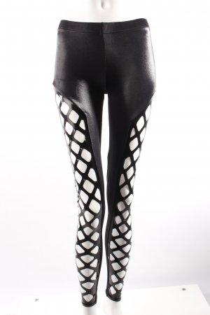 Black Milk Leggings mit Latexeinsatz schwarz
