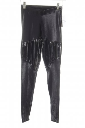 Black Milk Leggings schwarz Glanz-Optik