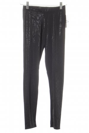 Black Milk Leggings schwarz Ornamentenmuster Glanz-Optik