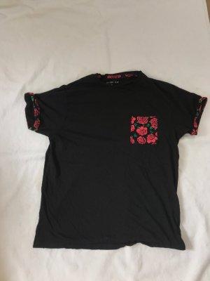 Primark Empire shirt zwart-donkerrood