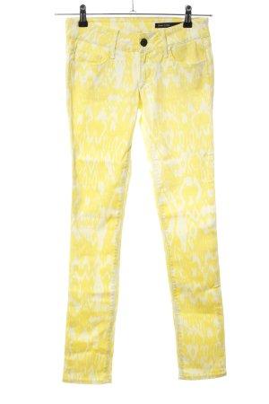 Black Orchid Five-Pocket Trousers primrose-natural white allover print