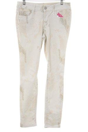 Black Orchid Slim Jeans hellbeige-creme abstraktes Muster Casual-Look