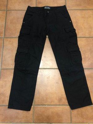 Pantalon cargo noir coton