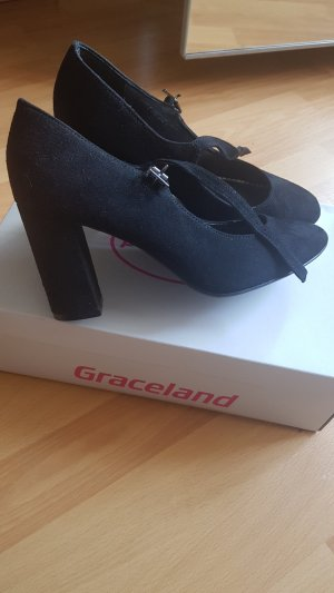 Graceland Tacones Mary Jane negro
