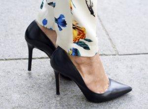 Zara Stiletto noir cuir