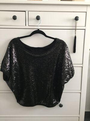 Black sequin blouse size 36-38