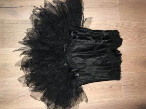 Vestido con enagua negro