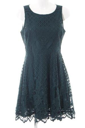 Black Swan Lace Dress blue elegant