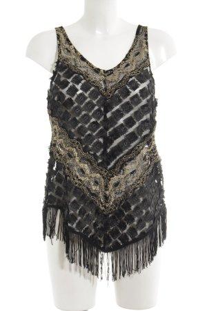 Black Swan Sporttop schwarz-goldfarben extravaganter Stil