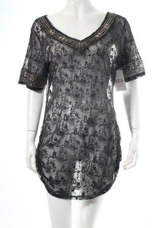Black Swan Blusa in merletto grigio scuro-talpa Tessuto misto