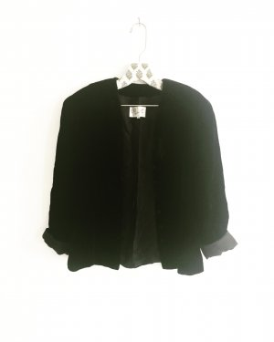 black velvet / schwarzer samt blazer / jacke / vintage / evelin brandt