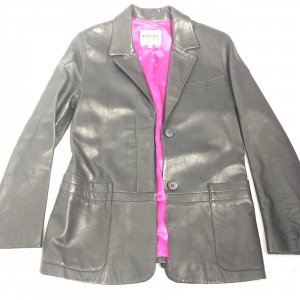 Black  Versace Leather Jacket