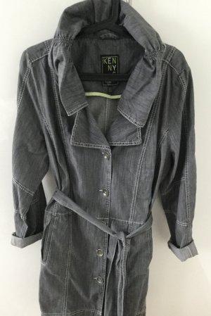 Graue Oversized Jacke