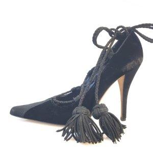 Yves Saint Laurent Sandalo con tacco alto nero