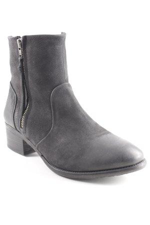 Blackstone Stivale a gamba corta antracite stile semplice