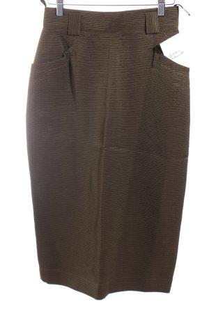 Blacky Dress Bleistiftrock olivgrün Streifenmuster schlichter Stil