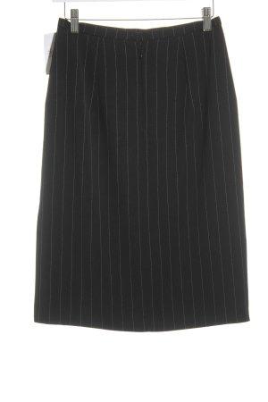 Blacky Dress Bleistiftrock schwarz-weiß Streifenmuster Brit-Look