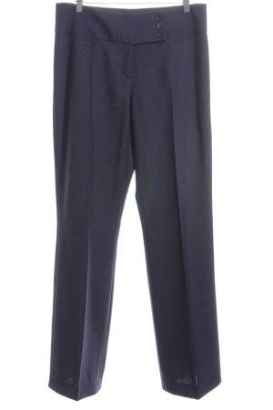 Blacky Dress Bundfaltenhose blau Business-Look