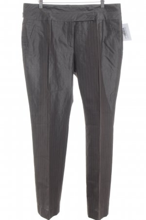 Blacky Dress Pleated Trousers grey brown striped pattern business style