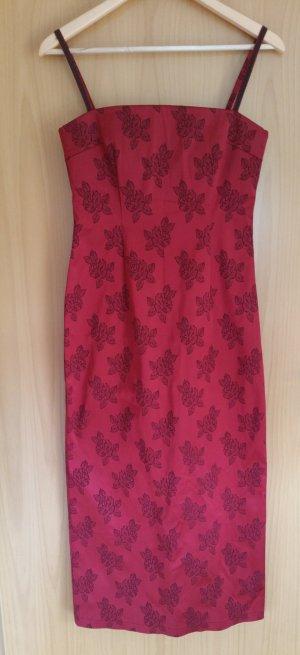 Blacky Dress elegantes Kleid mit Rosenprint - Zwischen Größe 34 und 36