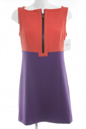 Blacky Dress Etuikleid dunkelorange-lila Colourblocking Lederelemente