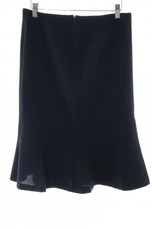 Blacky Dress Flared Skirt black-neon blue business style