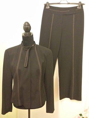 Blacky Dress Tailleur pantalone nero-sabbia Tessuto misto