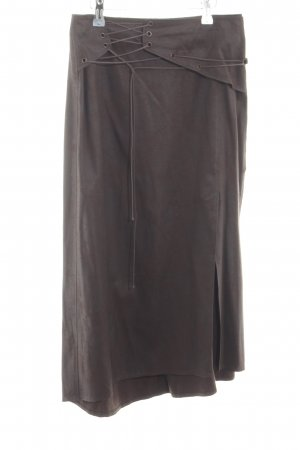 Blacky Dress Faux Leather Skirt brown casual look