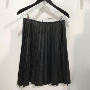 Blacky Dress Kunstlederrock/Plisseerock in schwarz, Gr. 38, NEU, Neupreis 198,00