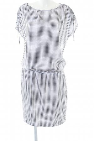 new style 61496 37769 Blacky Dress Kurzarmkleid weiß-schwarz Allover-Druck Casual-Look
