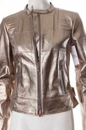 Blacky Dress Lederjacke goldfarben extravaganter Stil