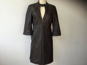 Blacky Dress Robe en cuir brun noir cuir