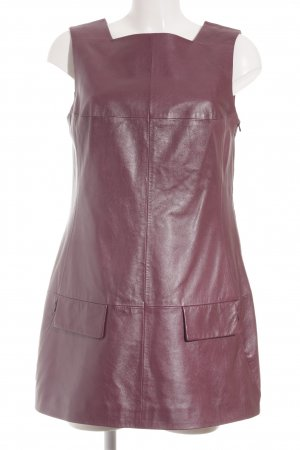 Blacky Dress Lederkleid violett extravaganter Stil
