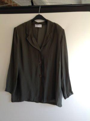 Blacky Dress leicht transparente Bluse olivgrün Gr. 40