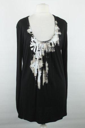 Blacky Dress Manica lunga nero-bianco Viscosa