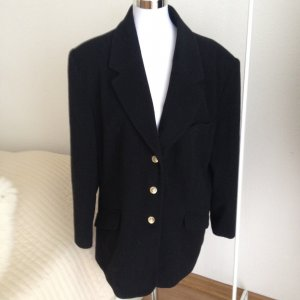 BLACKY DRESS Luxus Damen Woll Mantel Blazer Gr. 44 46 Schurwolle Schwarz Anker
