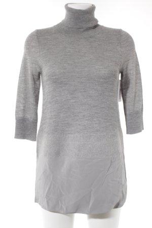Blacky Dress Maglione dolcevita grigio-argento puntinato stile casual