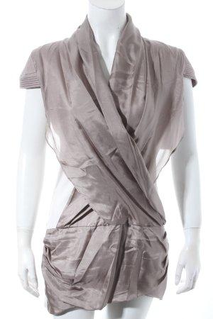 Blacky Dress Stretchkleid beige-graubraun Colourblocking extravaganter Stil