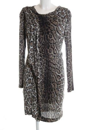 Blacky Dress Stretchkleid hellgrau Allover-Druck Elegant