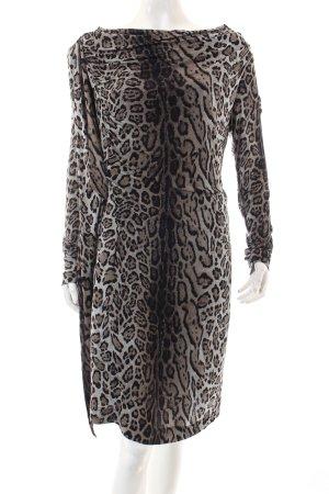 Blacky Dress Stretchkleid Leomuster extravaganter Stil