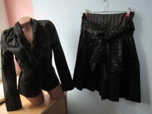 BLACKY DRESS | Tolles Kostüm | 36 | Rock mit Schärpe | taillierter Blazer