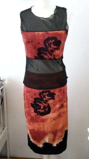 Blacky Dress Zweiteiler Vintage Kombination Batik Hippie transparent