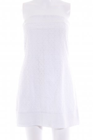 Blanco Bandeau Dress natural white loosely knitted pattern Boho look