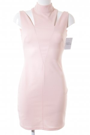 Blanco Vestido cut out albaricoque estilo «business»